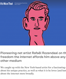 Interview with Rafaël Rozendaal on ItsNiceThat.com