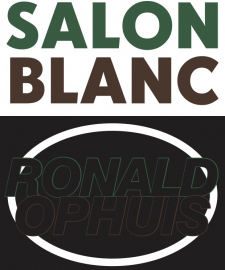 Ronald Ophuis in one-day art project Salon Blanc, Oostende (3 October 2020)