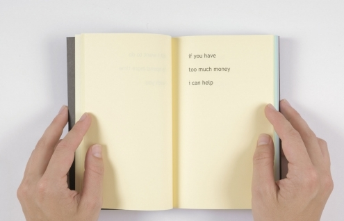 New haiku book and exhibition by Rafaël Rozendaal at Material, Zürich