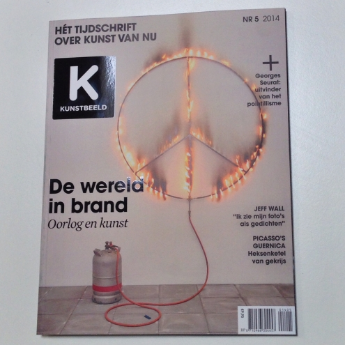Marc Bijl on the cover of Kunstbeeld