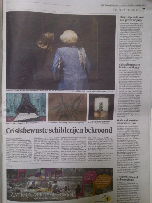 Frank Ammerlaan is the winner of the prestigious Royal Award for Painting 2012